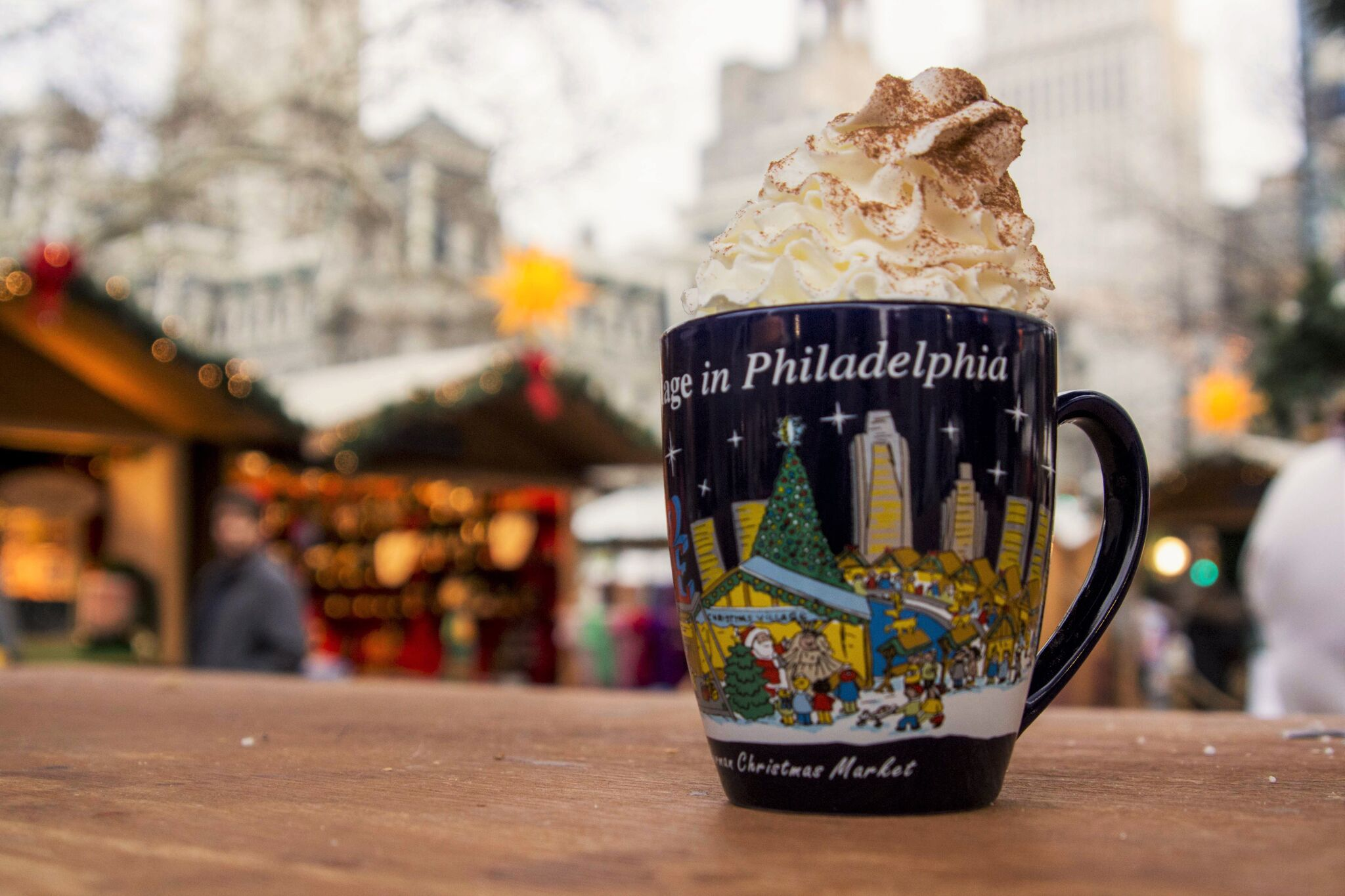 Christmas Village in Philadelphia Mug of Hot Coco