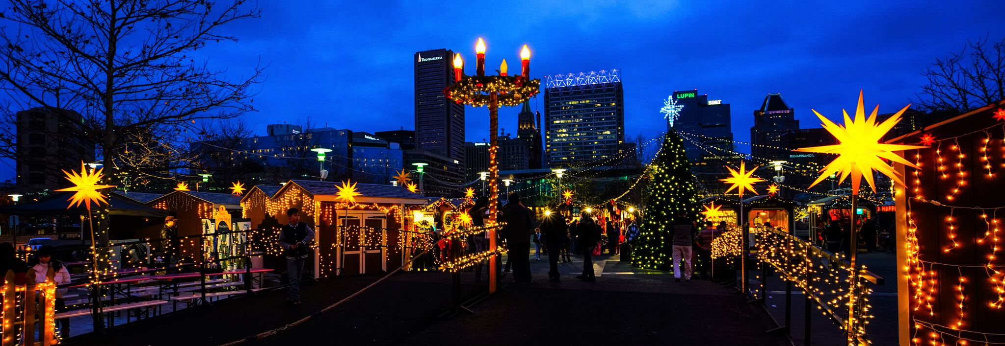 Baltimore Christmas Village Wide Shot