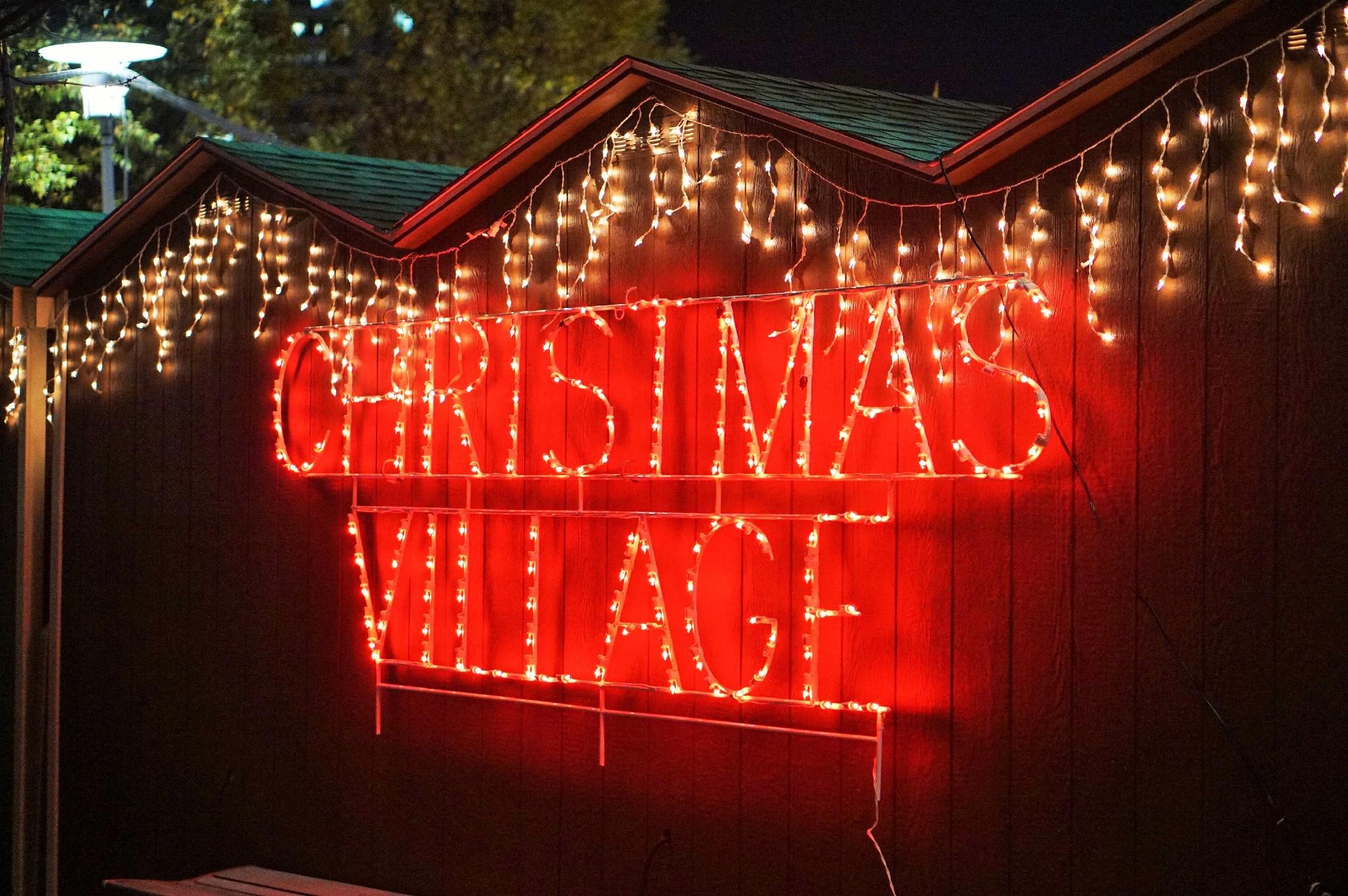 Christmas Village Baltimore Signage