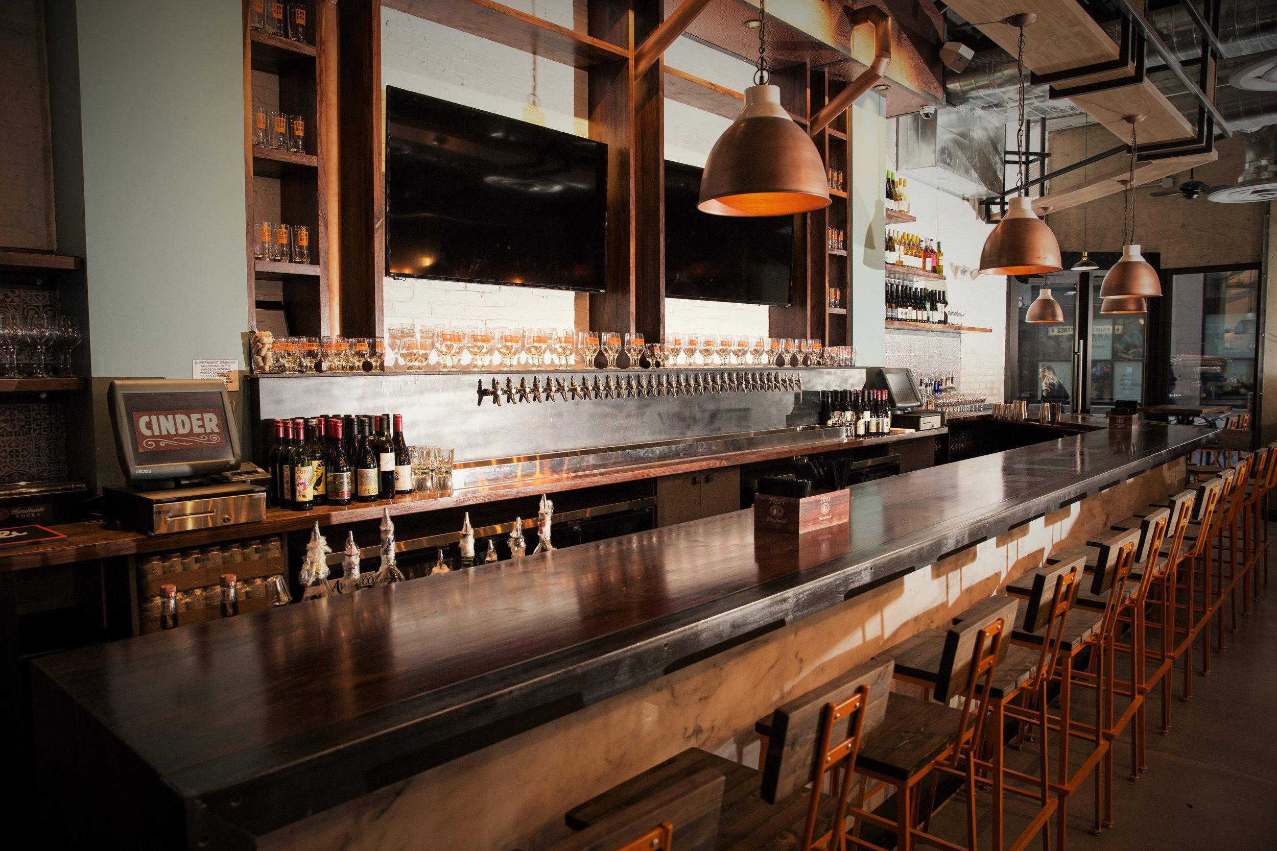 Cinder Bar Interior NYE