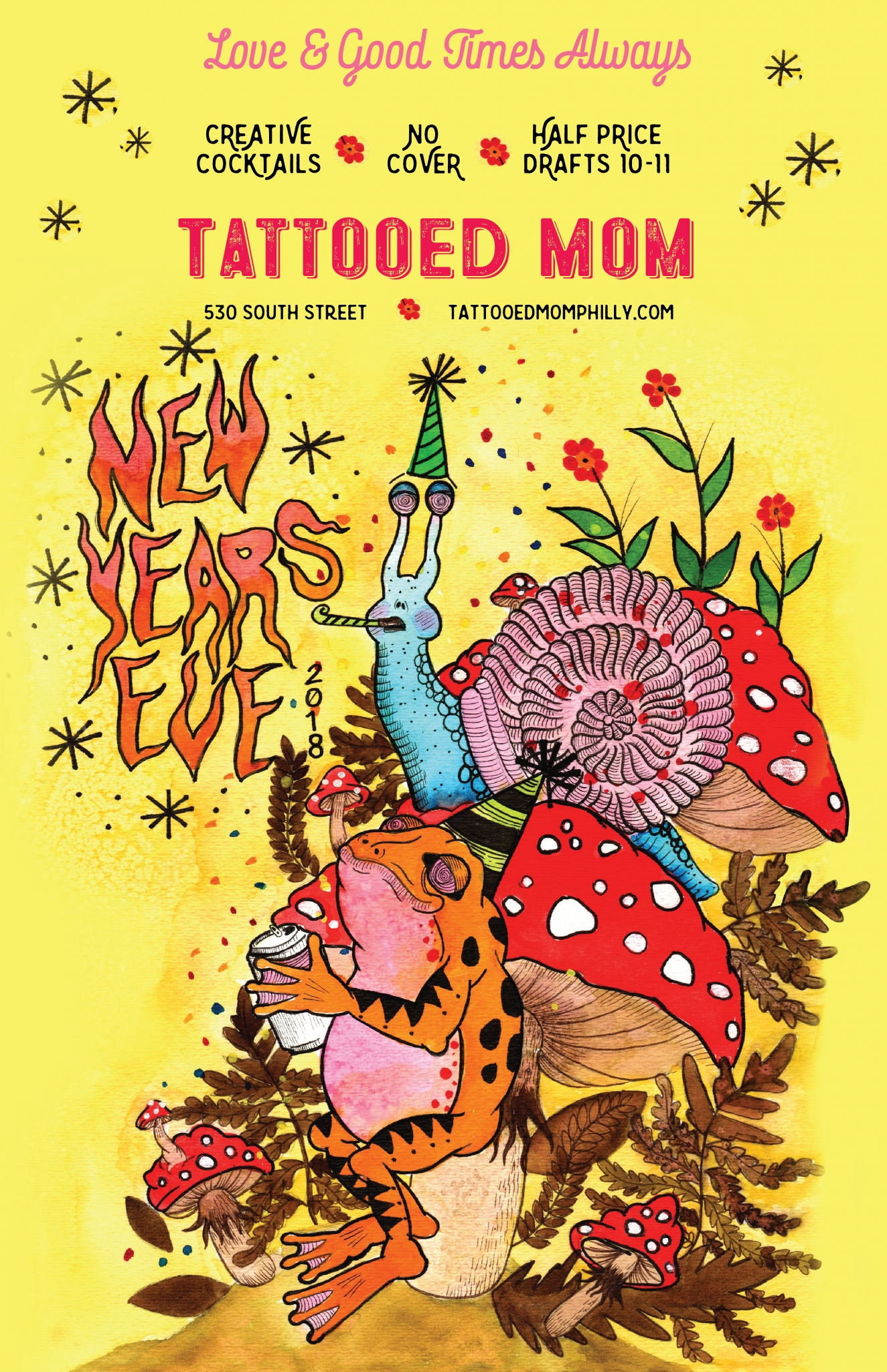Tattooed Mom New Years Eve Poster