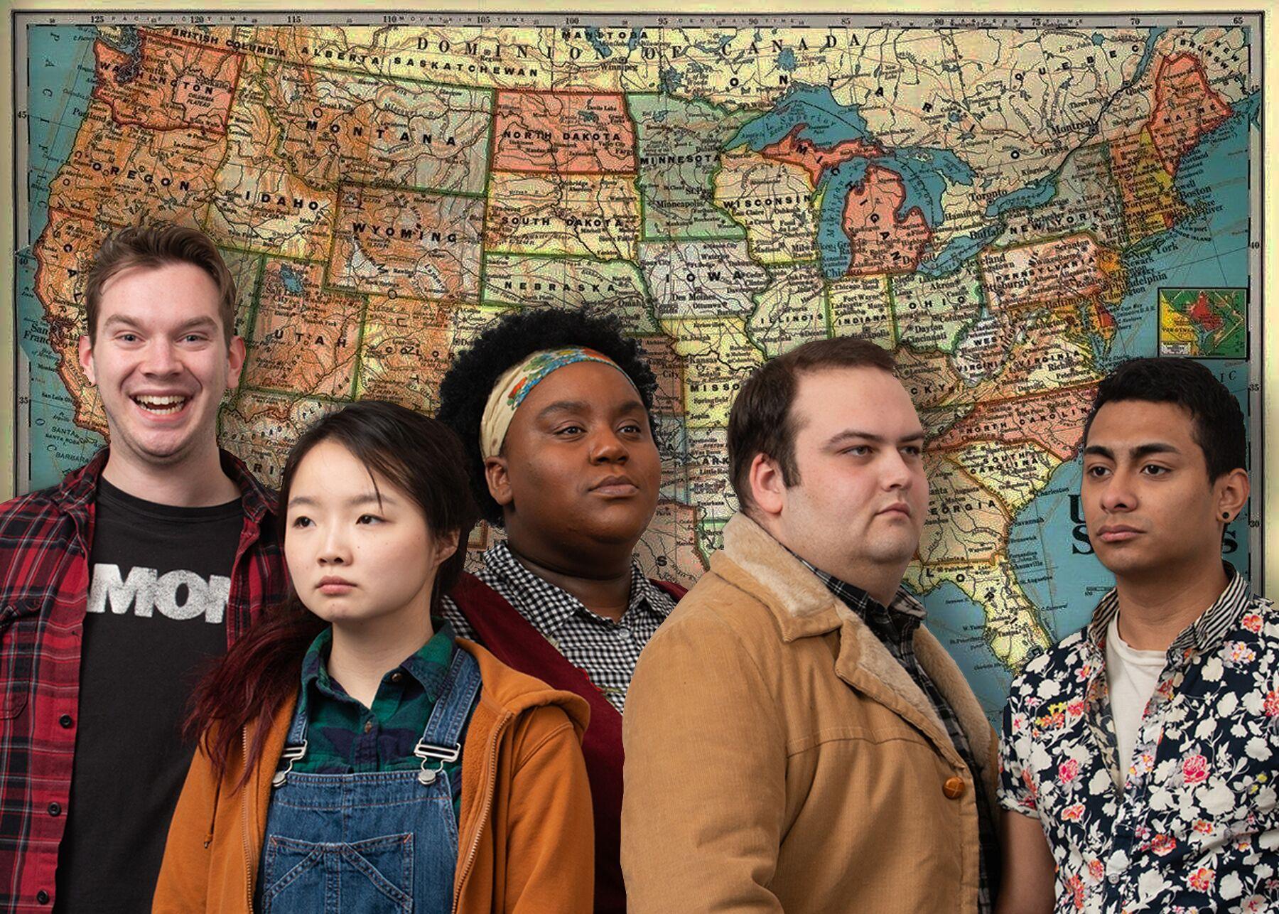 Azuka Theatre, Bob: A Life in Five Acts Cast Map