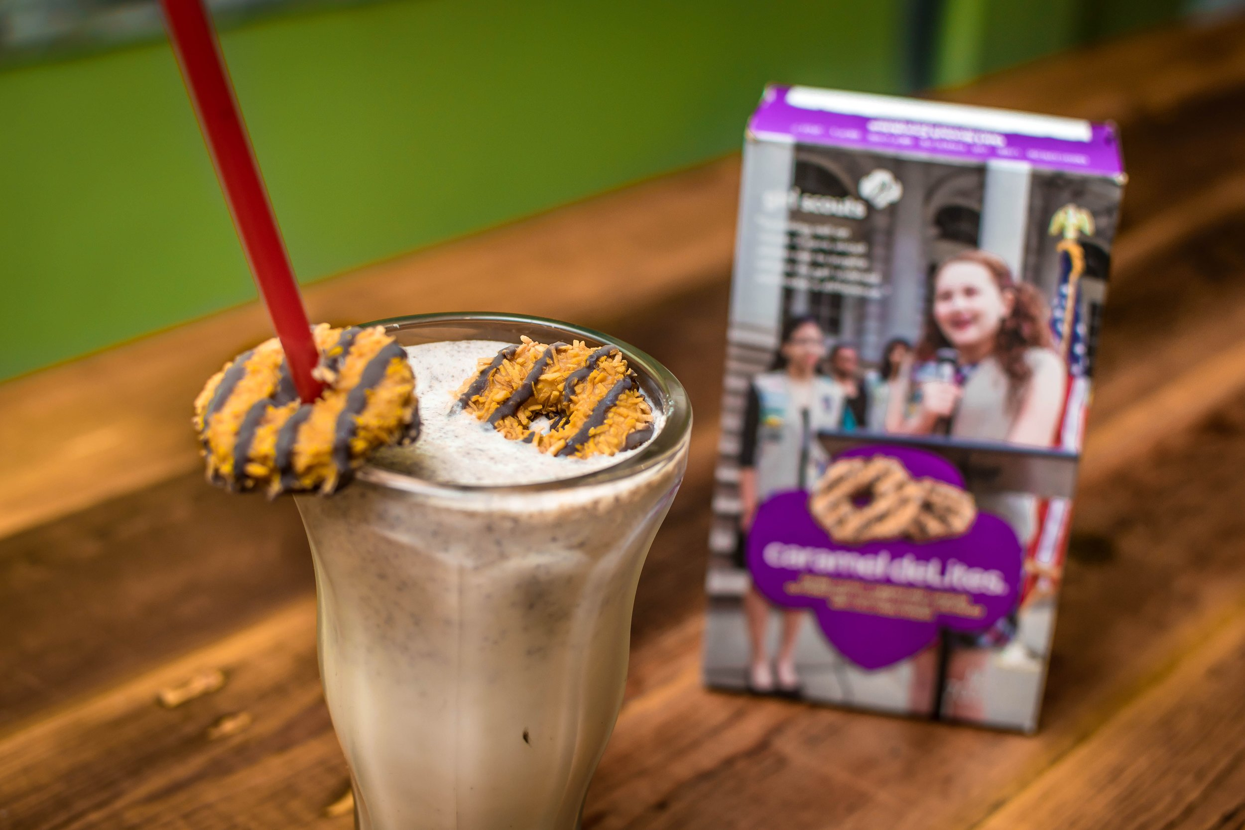 P'unk Burger Girl Scout Inspired Milkshakes, Toasted Coconut Cookie