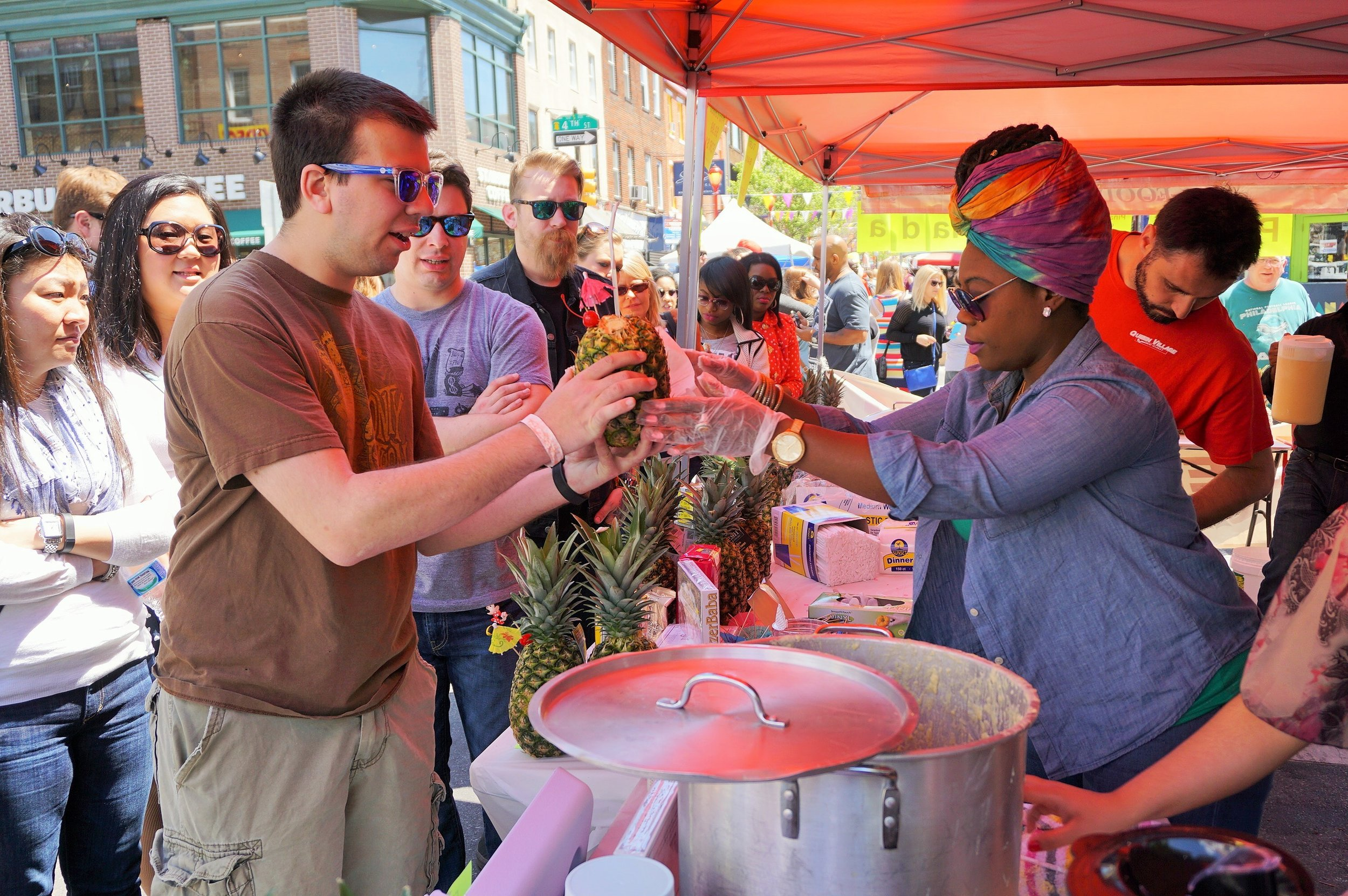 Freshly Made Pina Coladas, South Street Spring Festival 2018