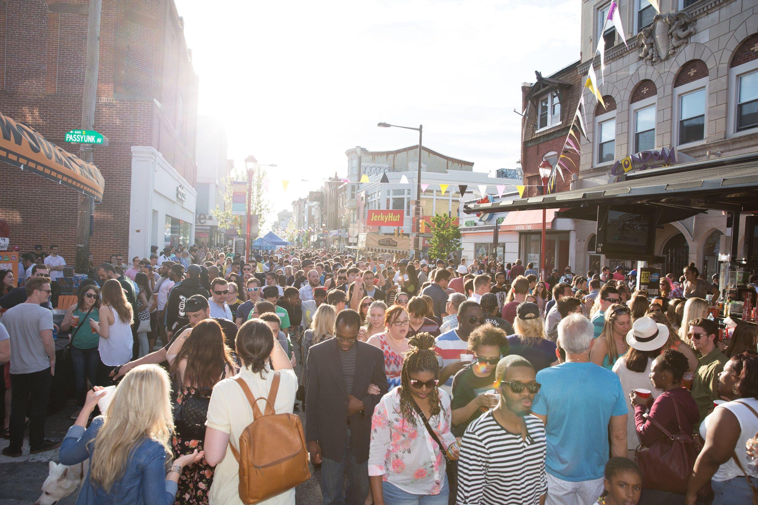 South Street Spring Festival 2018 Crowd