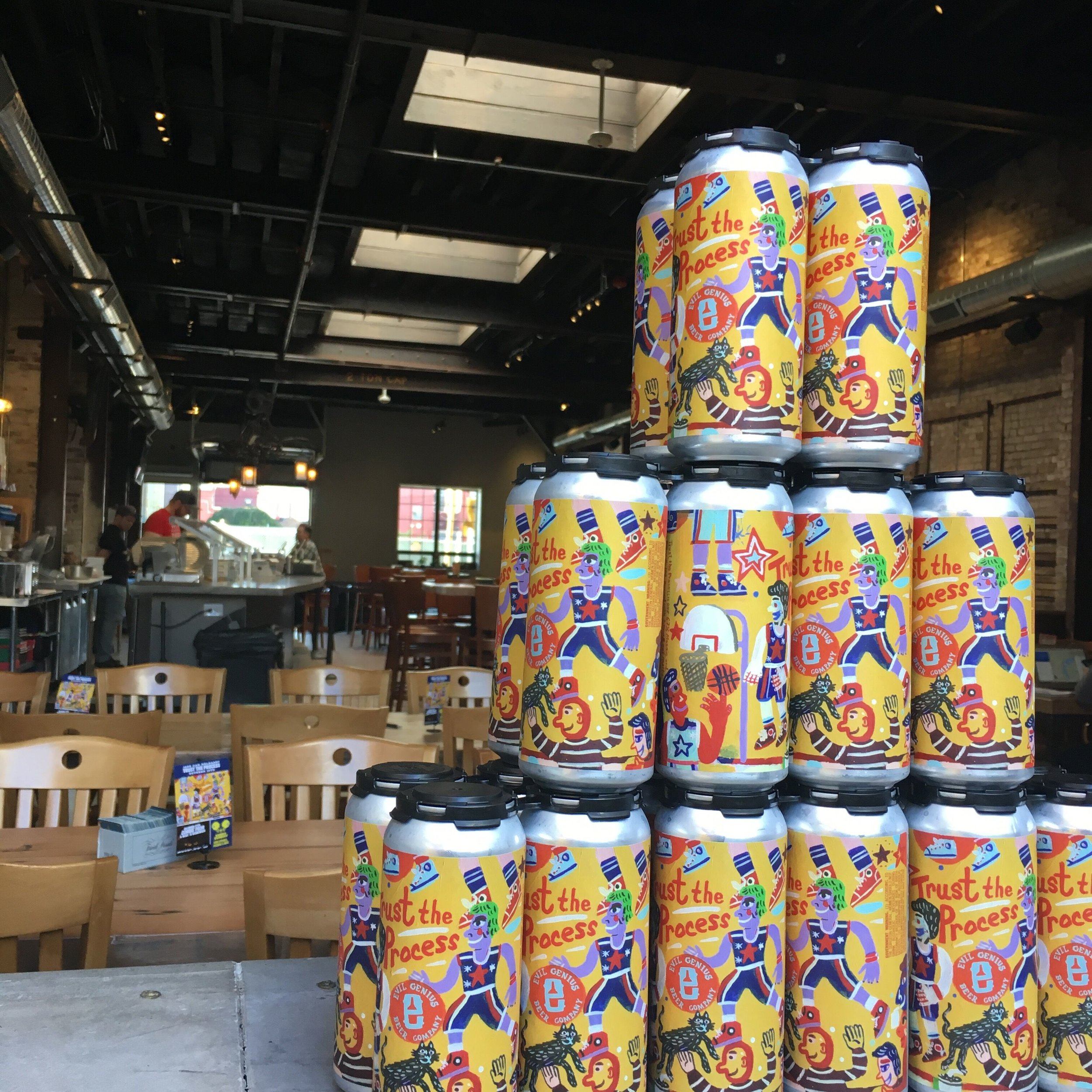 Trust the Process Beer Can Pyramid