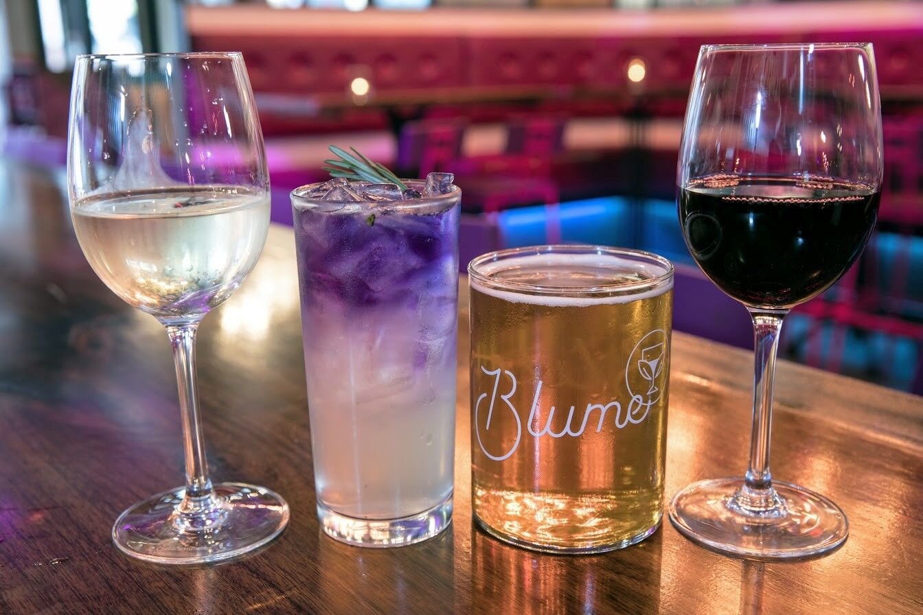 Blume Drink Options, Specialty Cocktail and Wine