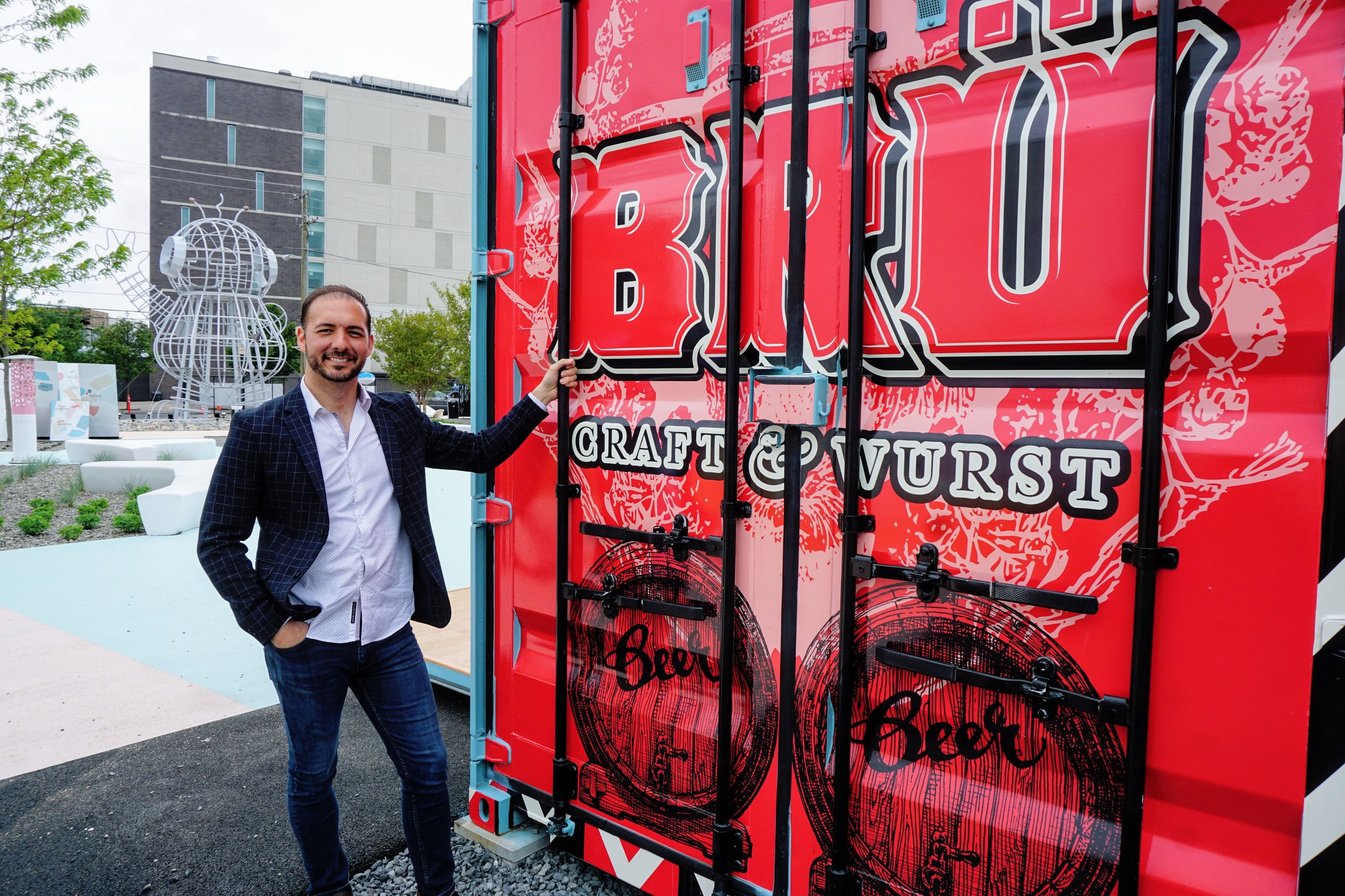 Teddy Sourias, Craft Concepts Group, BRU Pod at Piazza Pod Park