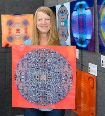 Me with the Male'i mandala at an art fair in 2015.