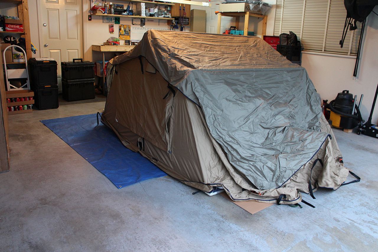 Checking out the Tepui Tent in the Garage