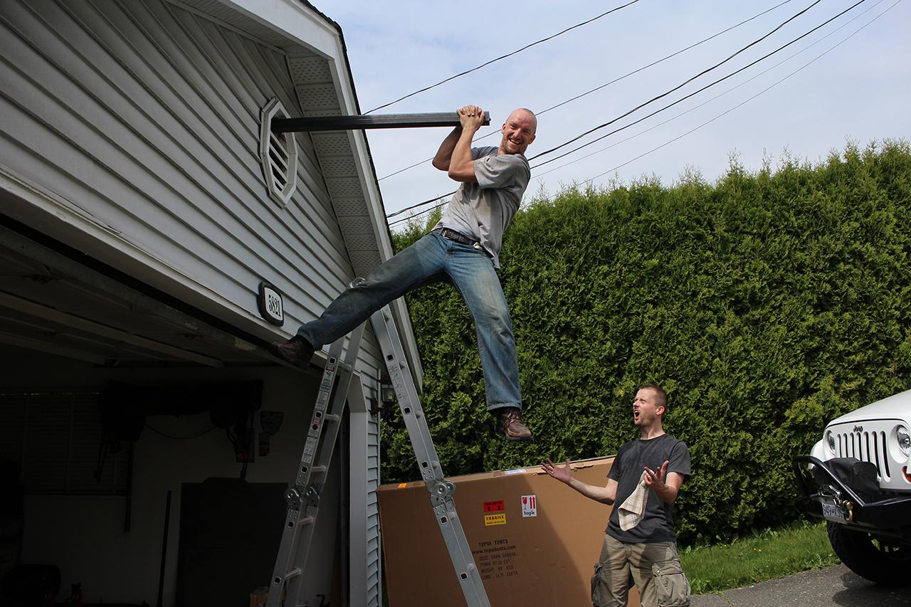 We Built a Crane on the Damn House!