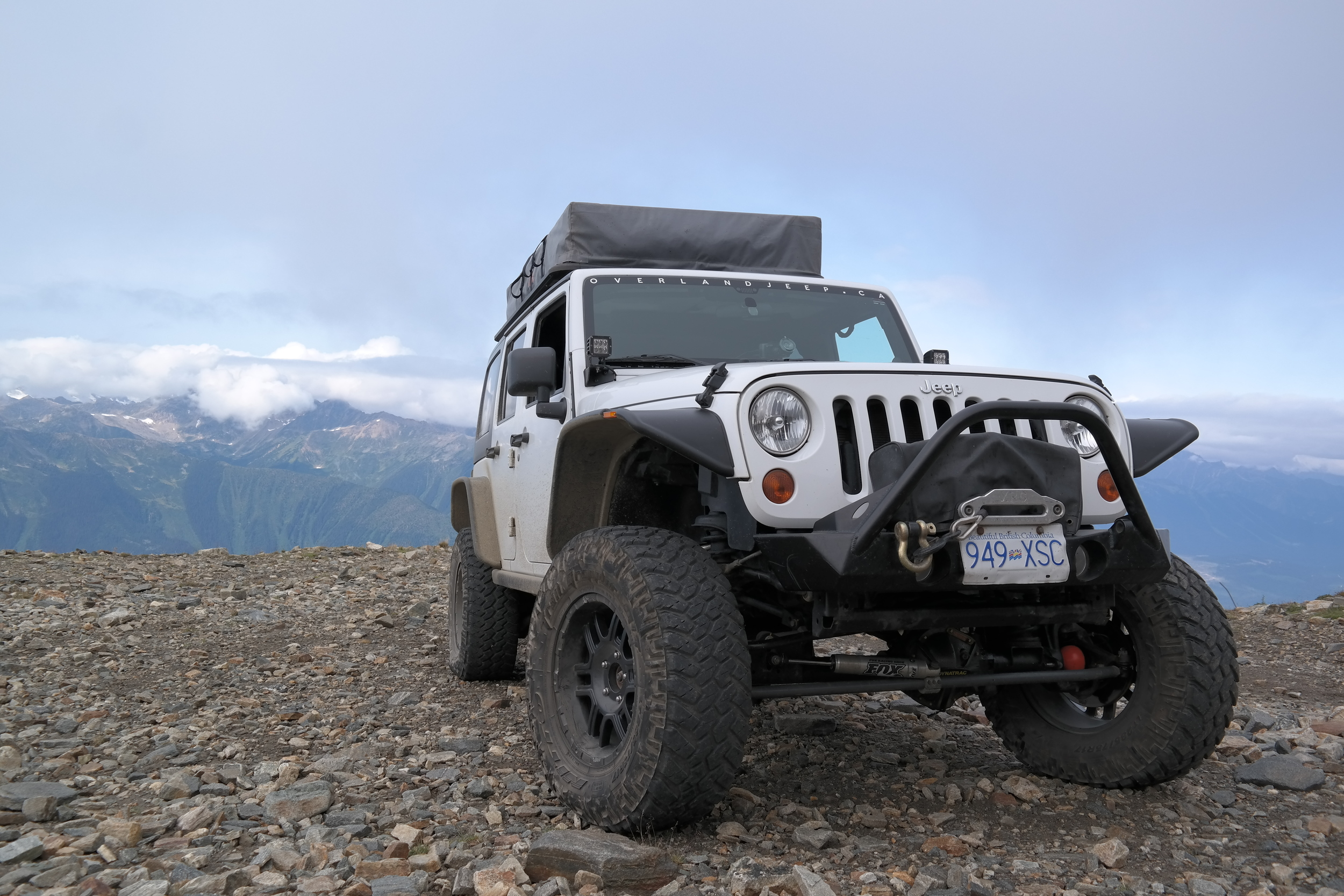 Sitting Half-Way up Canoe Mountain on a Switchback - August 2014