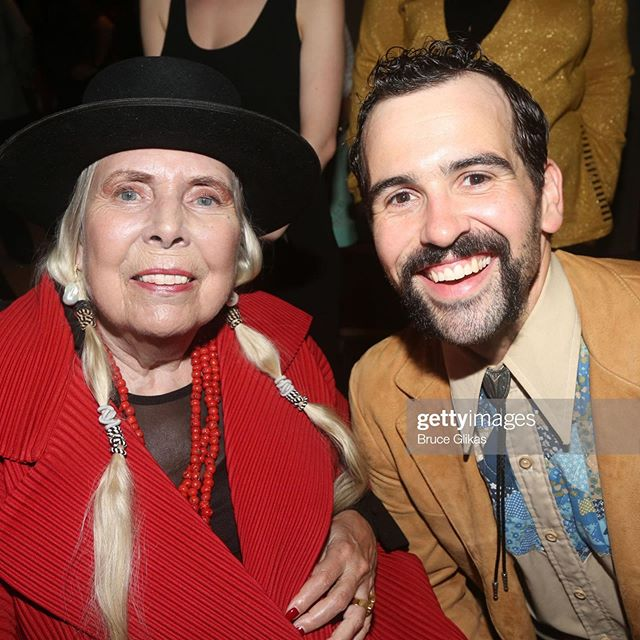 A very special moment meeting Joni Mitchell at opening and getting to thank her for writing a song that has helped me through some very difficult times. #sireofsorrow #jonimitchell