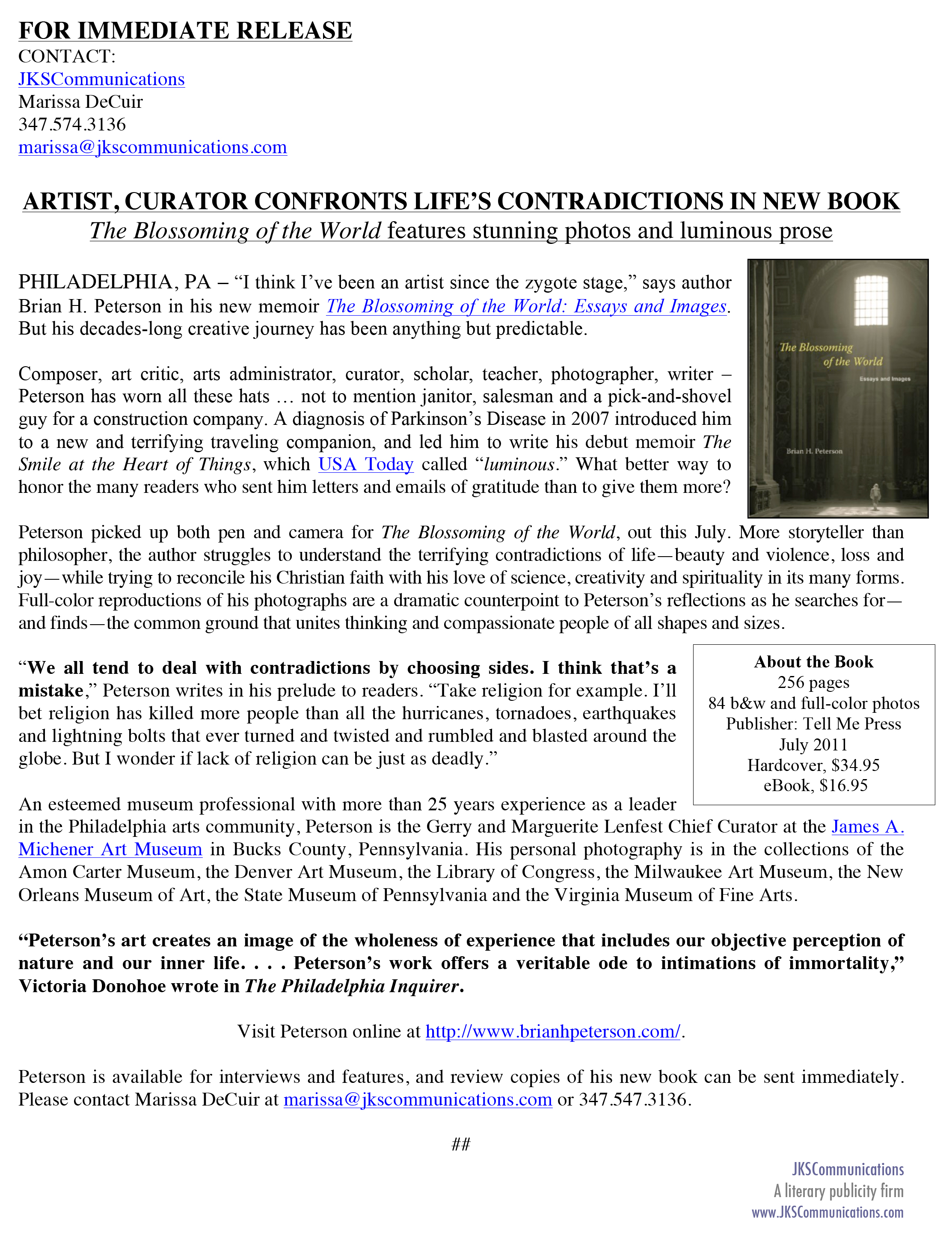 PRESS RELEASE_ARTIST, CURATOR CONFRONTS LIFEíS CONTRADICTIONS IN NEW BOOK-1.jpg