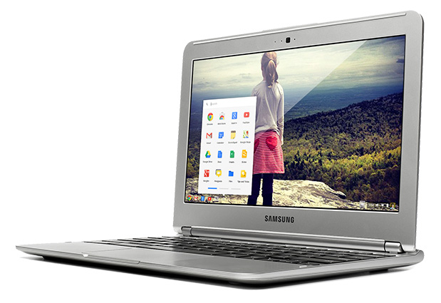 A stock photo of the Samsung Series 3 Chromebook.