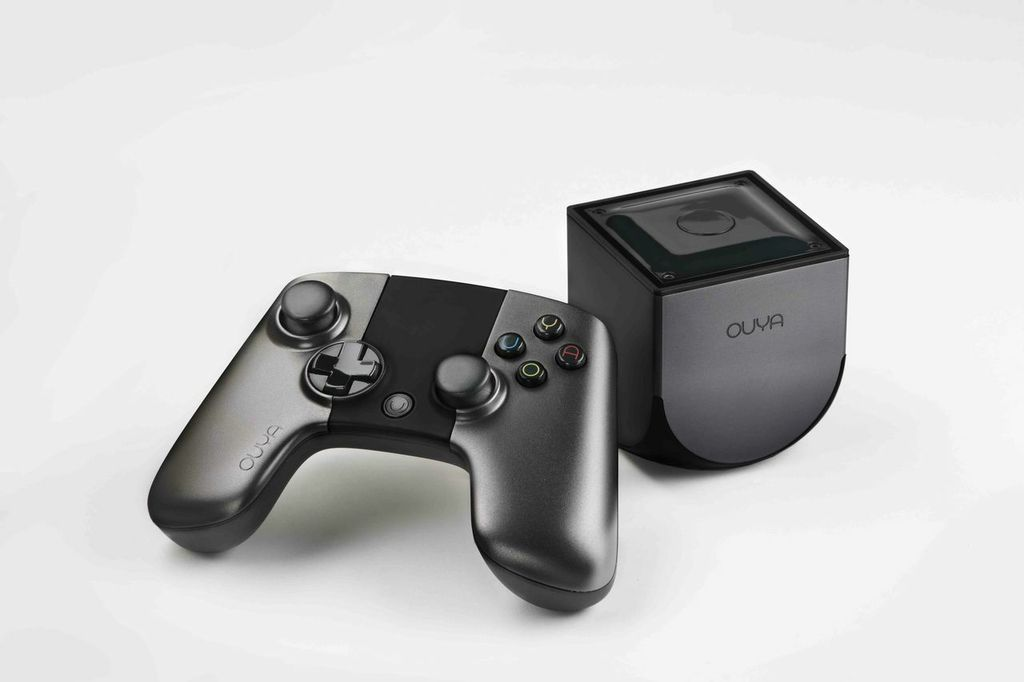 The Ouya console and controller.