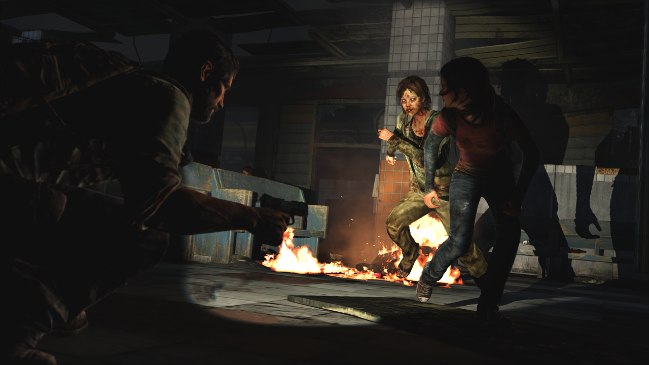 An example of  The Last of Us ' excellent lighting.