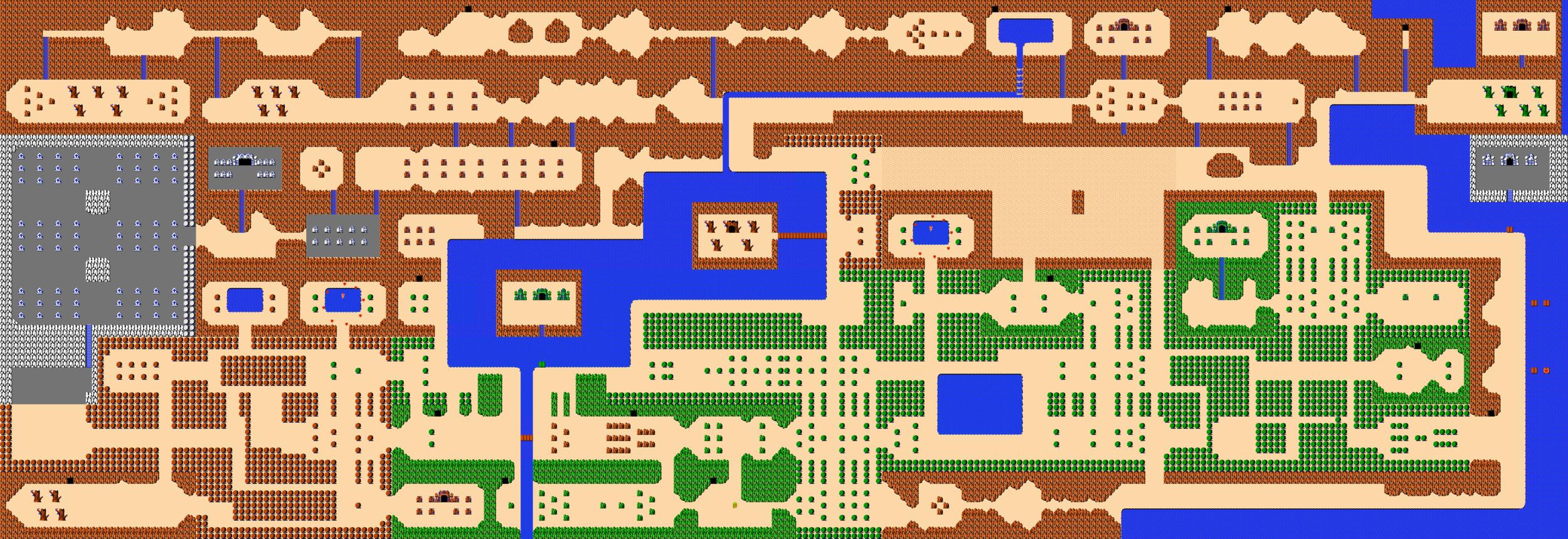 The entire Legend of Zelda overworld.