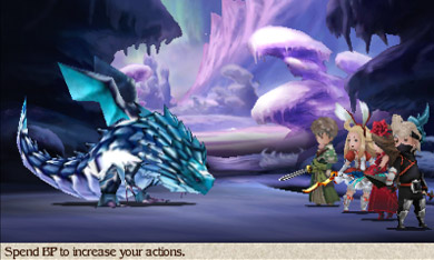 An example of the battle screen.
