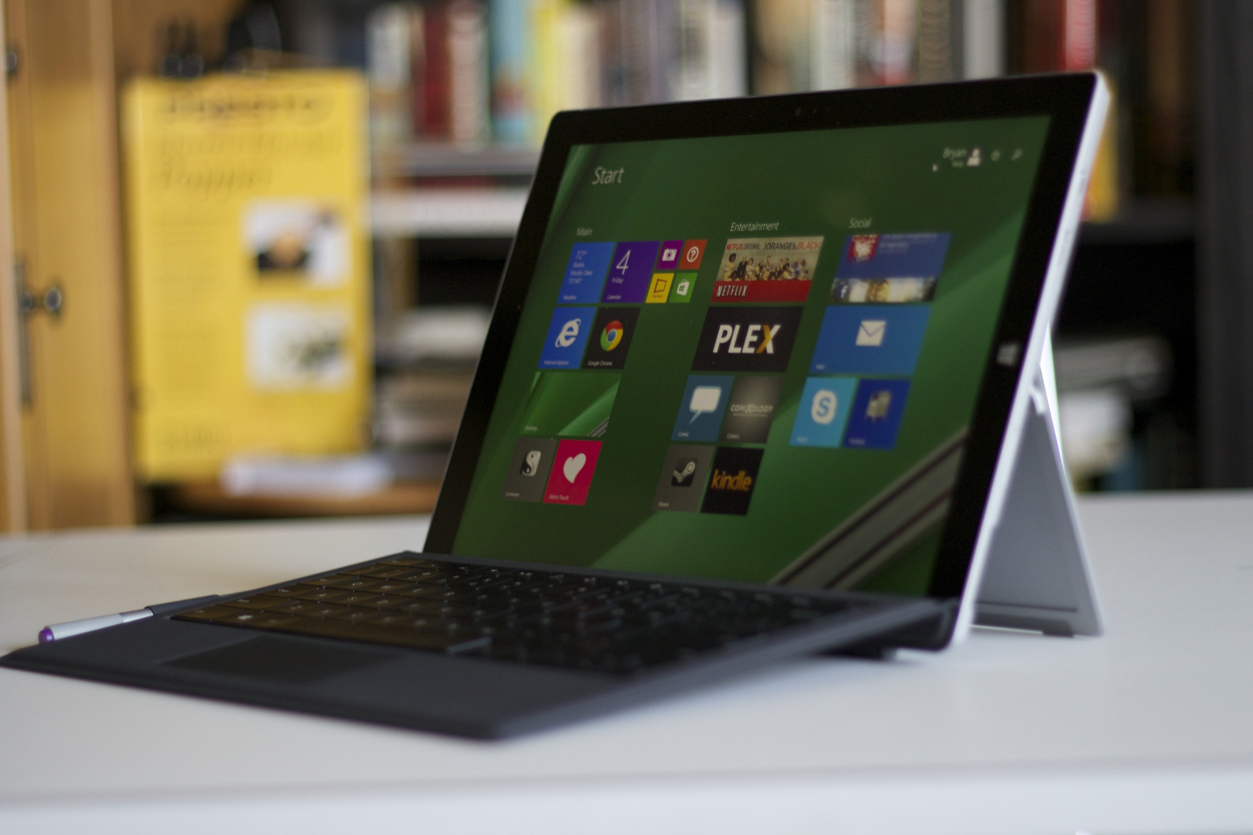 The Surface Pro 3 from another angle.