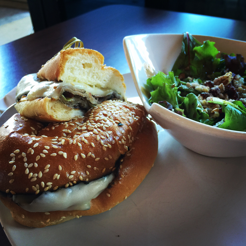 The Starving Artist Bistro's Bistro Beef and Bistro Salad.