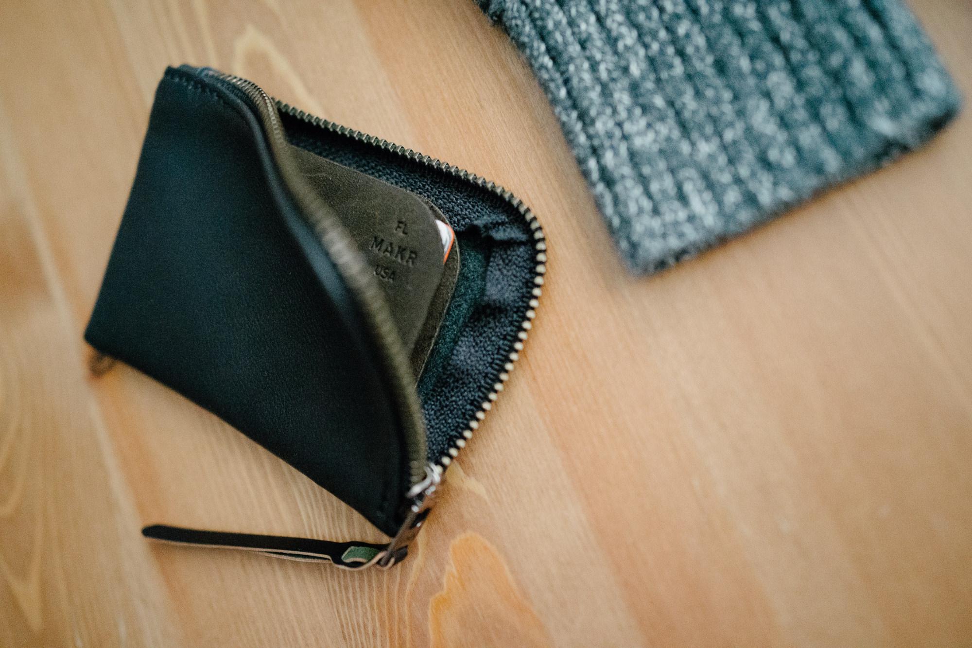 Sony RX1   makr zipper slim wallet in black