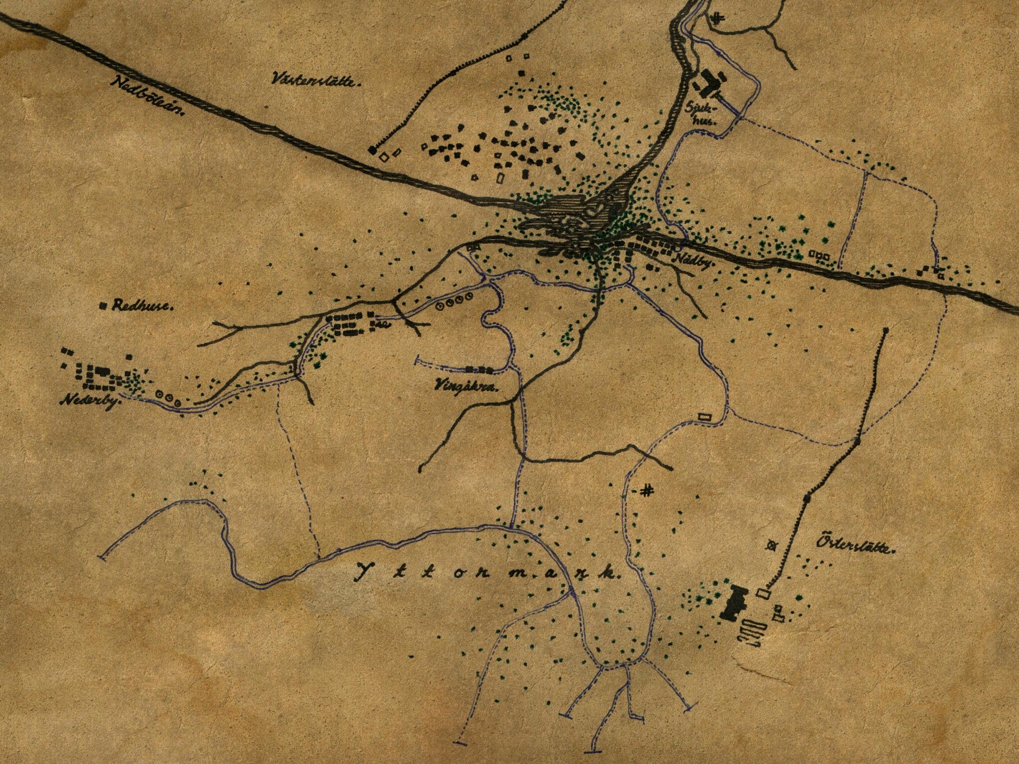 Map of Österheden, date unknown