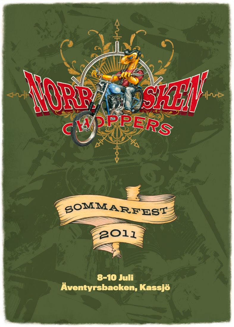 Norrsken Choppers affisch, 2011