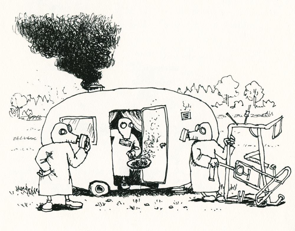 Kufar lagar campingmiddag