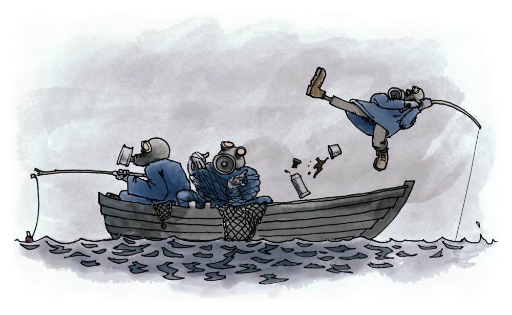 Kufiskt fiskafänge