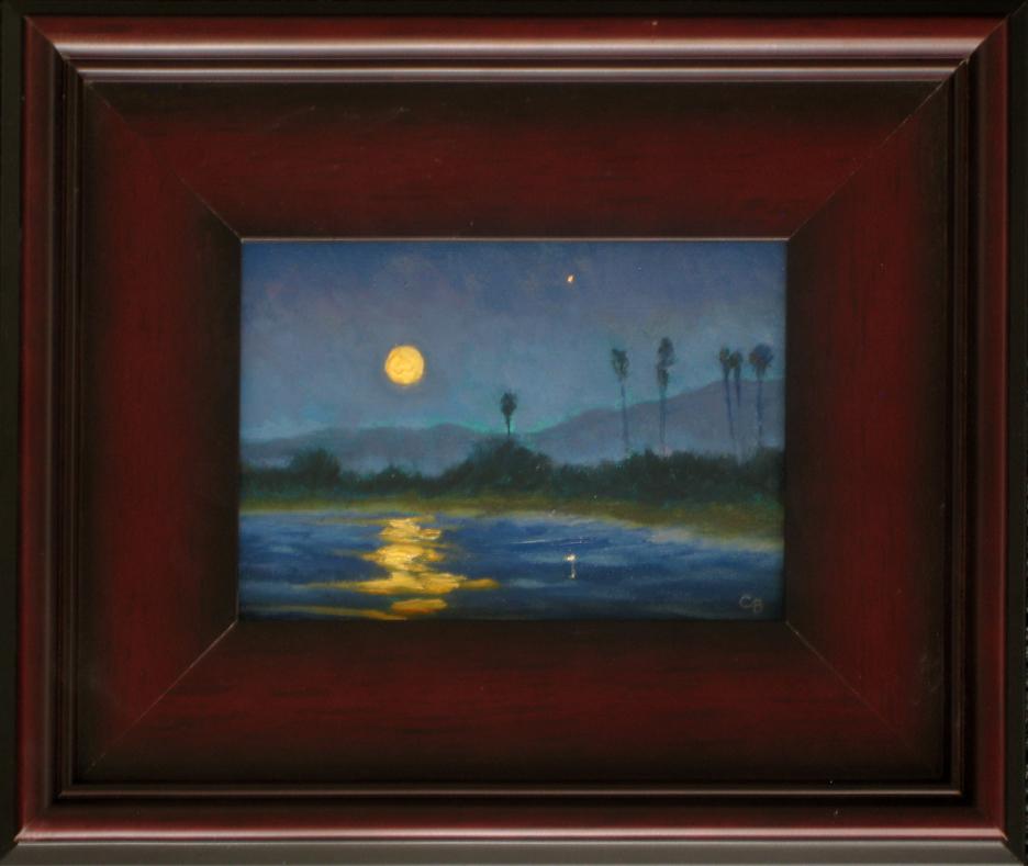 December Moonset