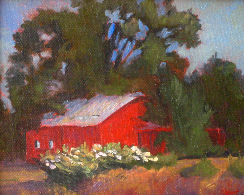 Barn by the Side of the Road, 9 x 12