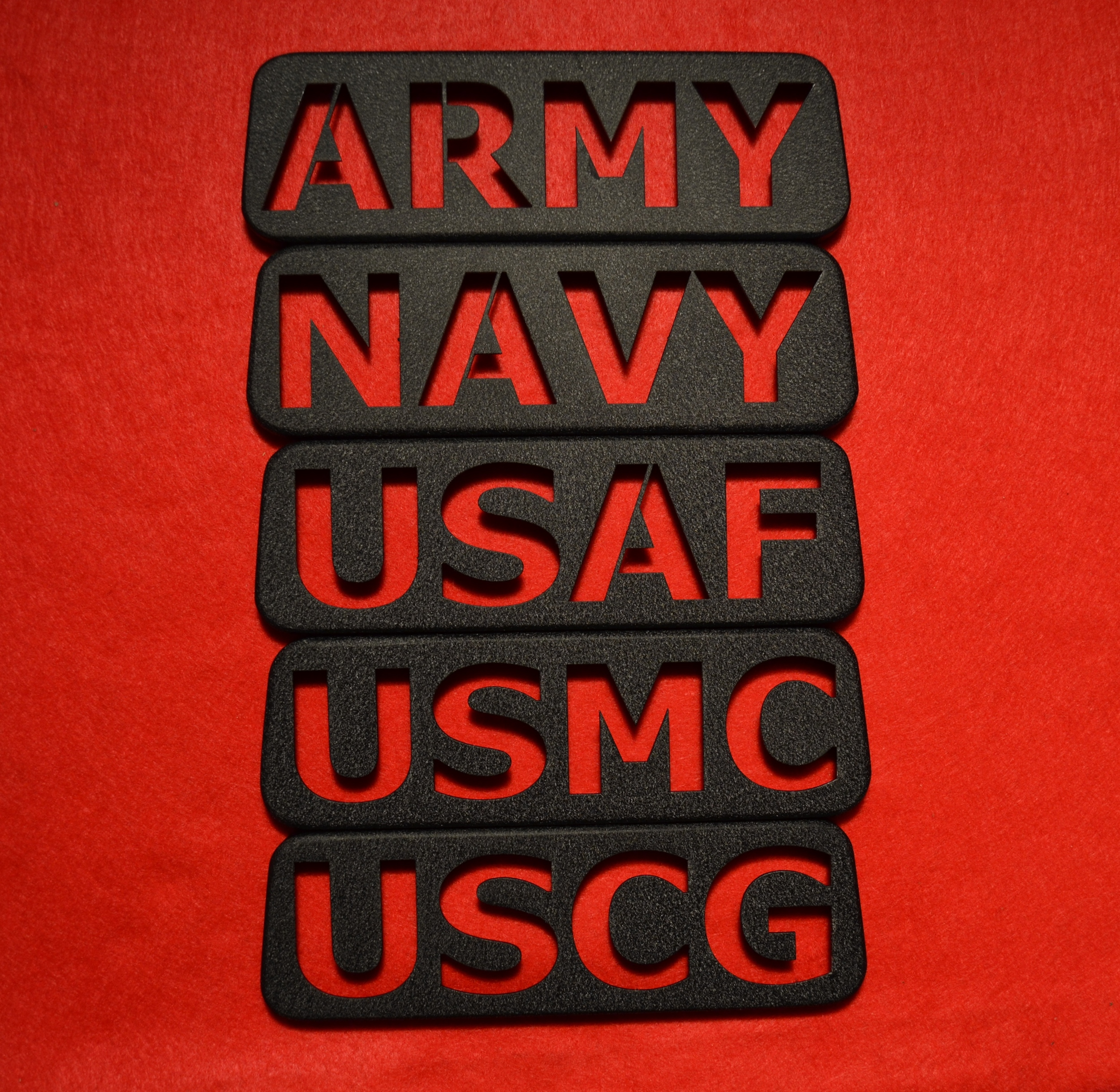 """BLACK JK (2007-PRESENT) MILITARY THEMED THIRD BRAKE LIGHT GUARDS. SHOWN ABOVE. SHOW YOUR PRIDE, """"NEW DESIGN"""""""