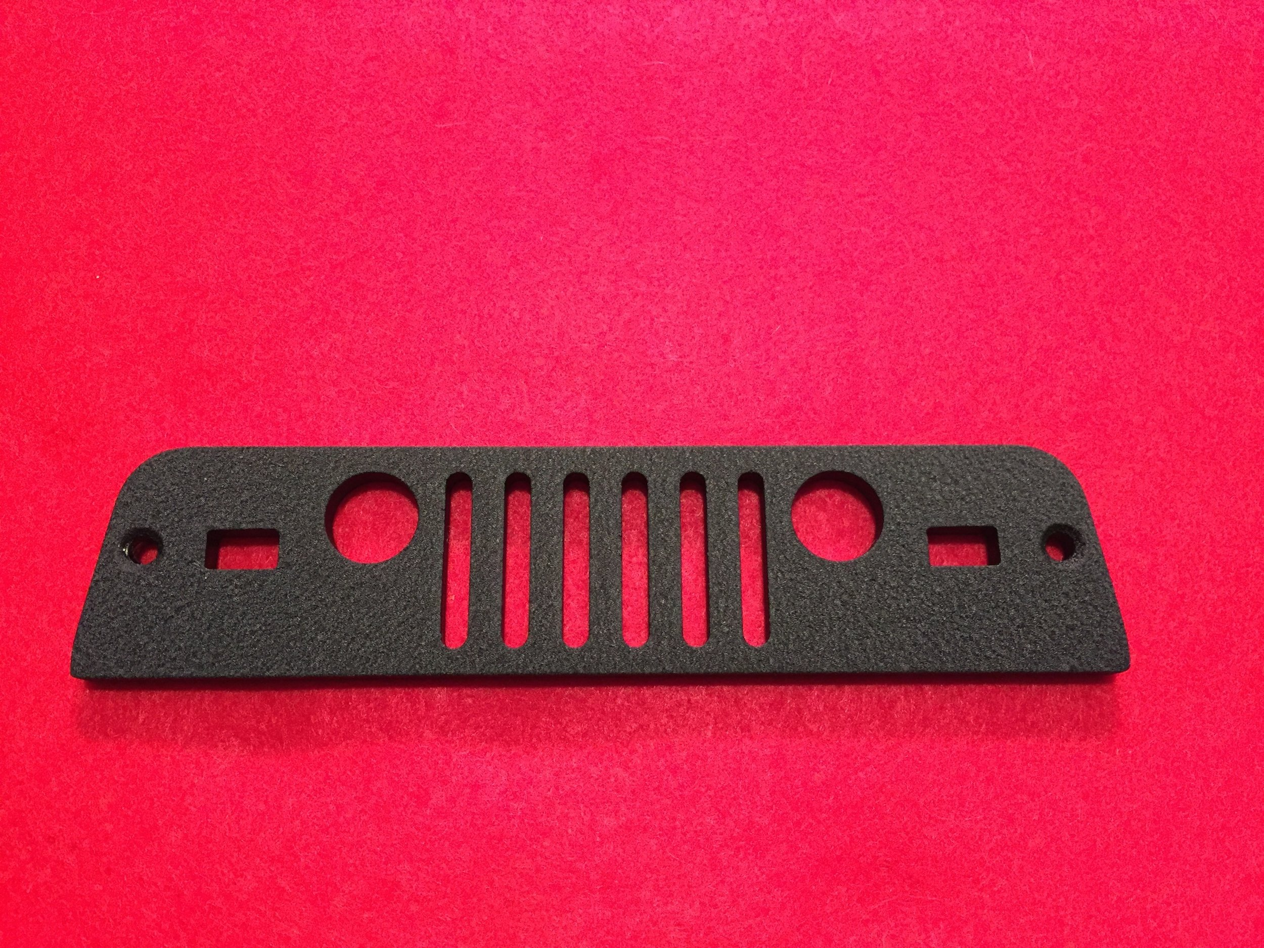 BLACK TJ (1997-2006) JEEP GRILL THIRD BRAKE GUARD SHOWN ABOVE. BRAND NEW DESIGN FOR 2017.