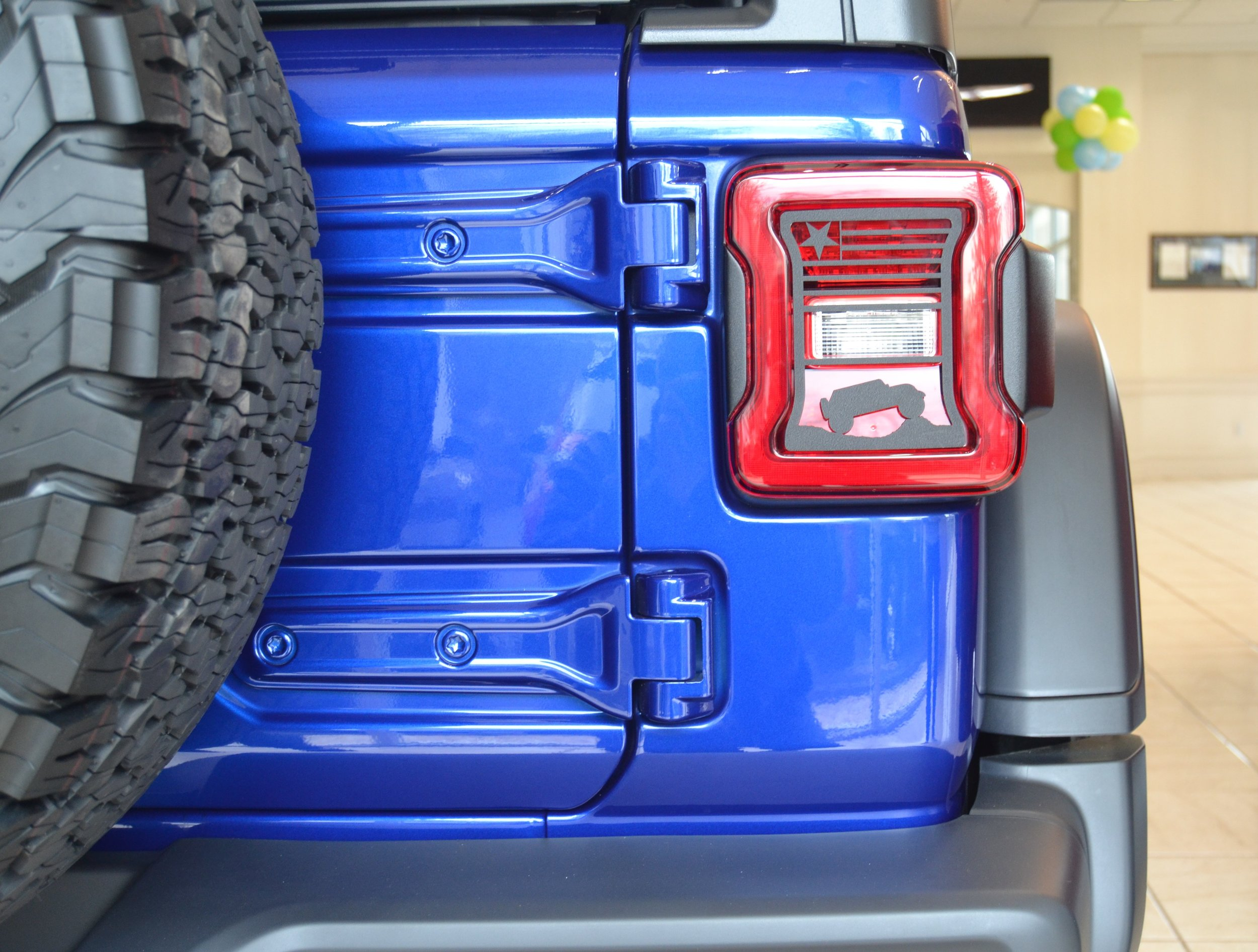 NEW - 2018 PRESENT  JL  WRANGLER USA PROUD / TERRAIN TAILLIGHT GUARD. SEE PLACE YOUR ORDER PAGE FOR ADDITIONAL DETAILS. FOR LED TAILLIGHT OPTION ONLY.