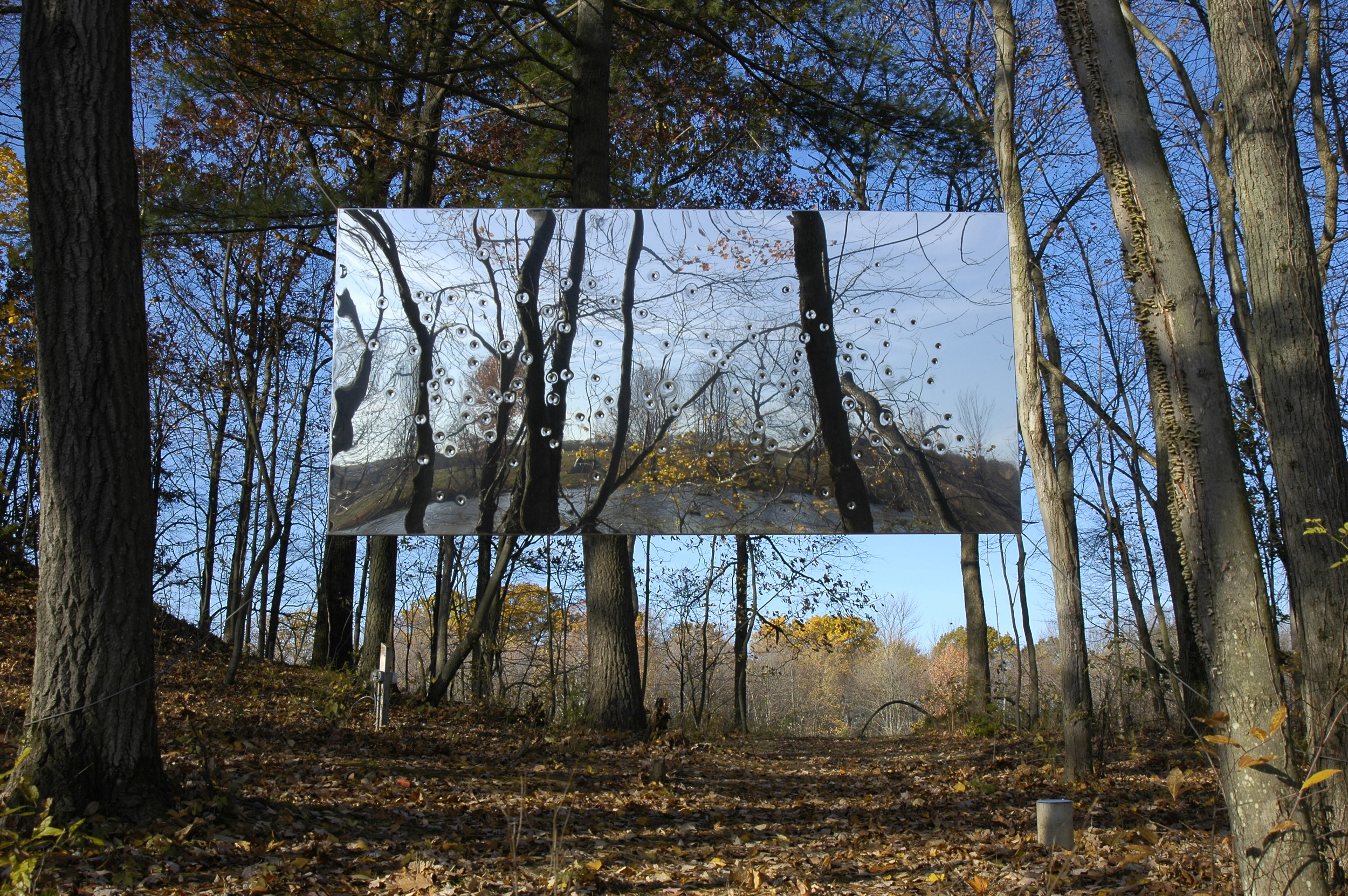 Margaret Evangeline, Artist  Mirror-polished stainless steel panel and frame