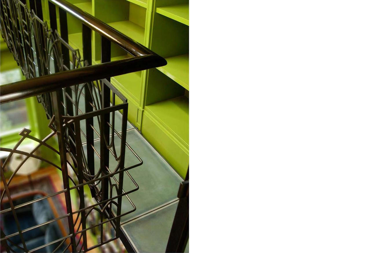 Willow Street   Custom steel railing panels