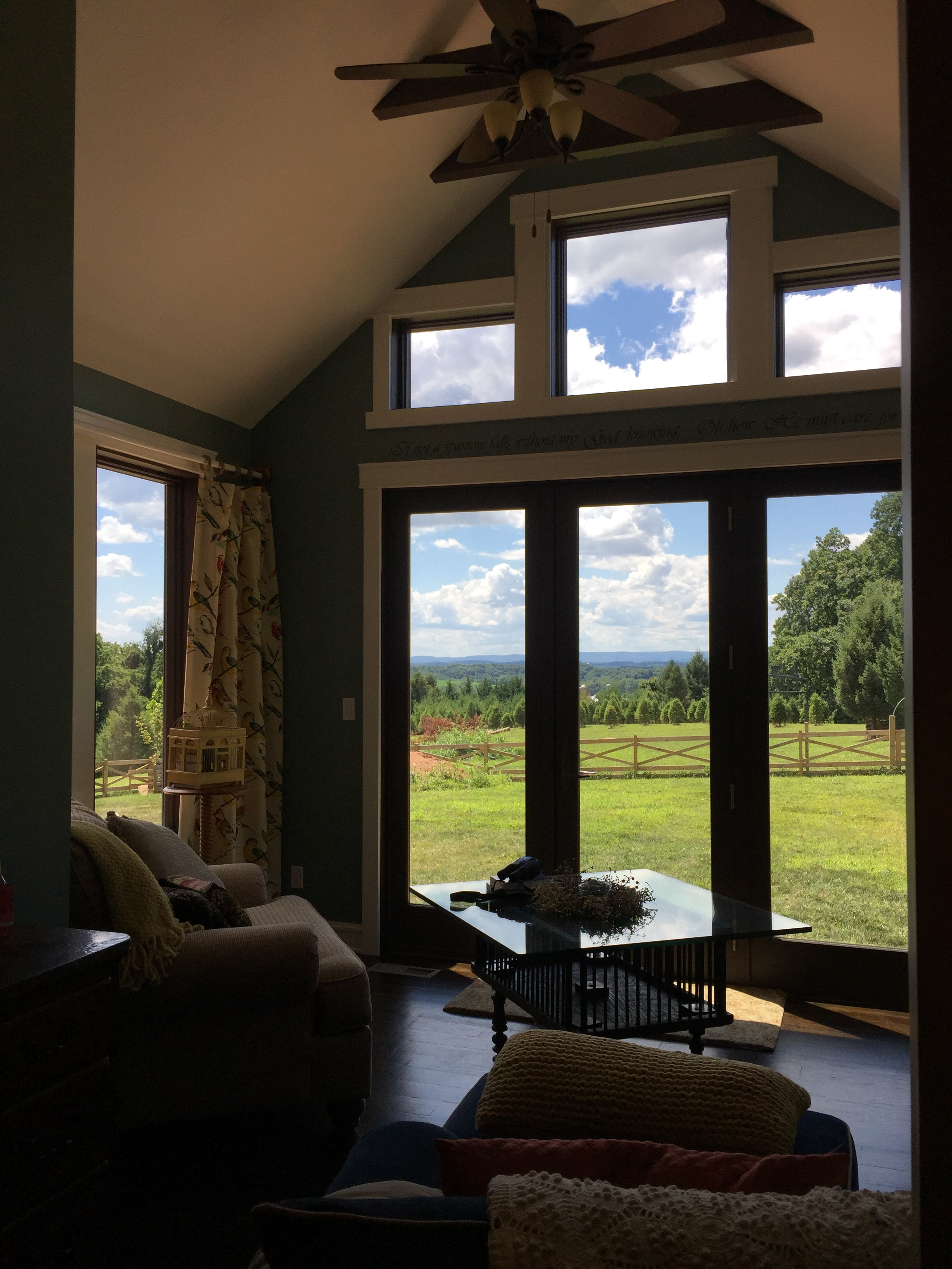 The view from the master bedroom's sitting room.