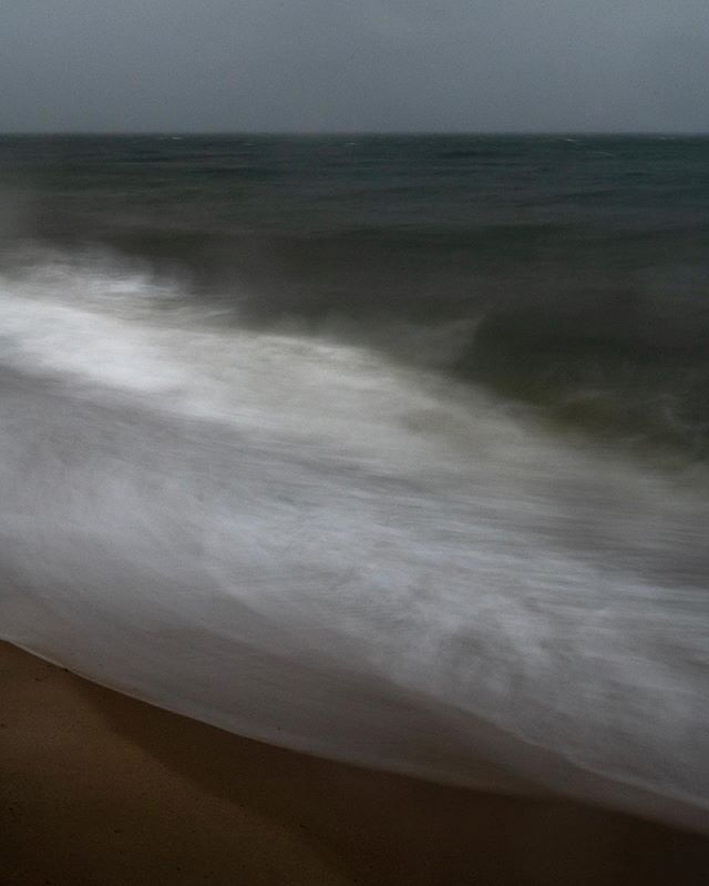 Nor'easter #3 . . . . . . . .  #capecod #noreaster #seascapes #longexposure #finearts #art #sundayfunday #photography #windsablowin #nantucketsound #overcast #nobody #noone #nothing #nowhere #notime #dragtheshutter