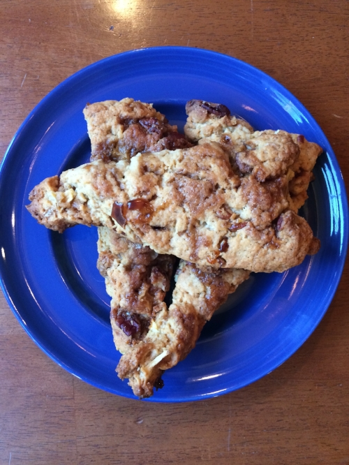 A few of the scrumptious batch of Caramel Apple Pecan Scones!