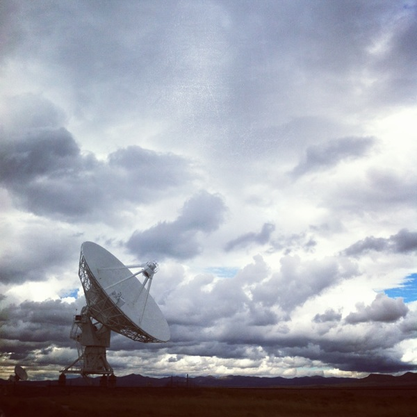 One of 27 antennas at The Very Large Array.