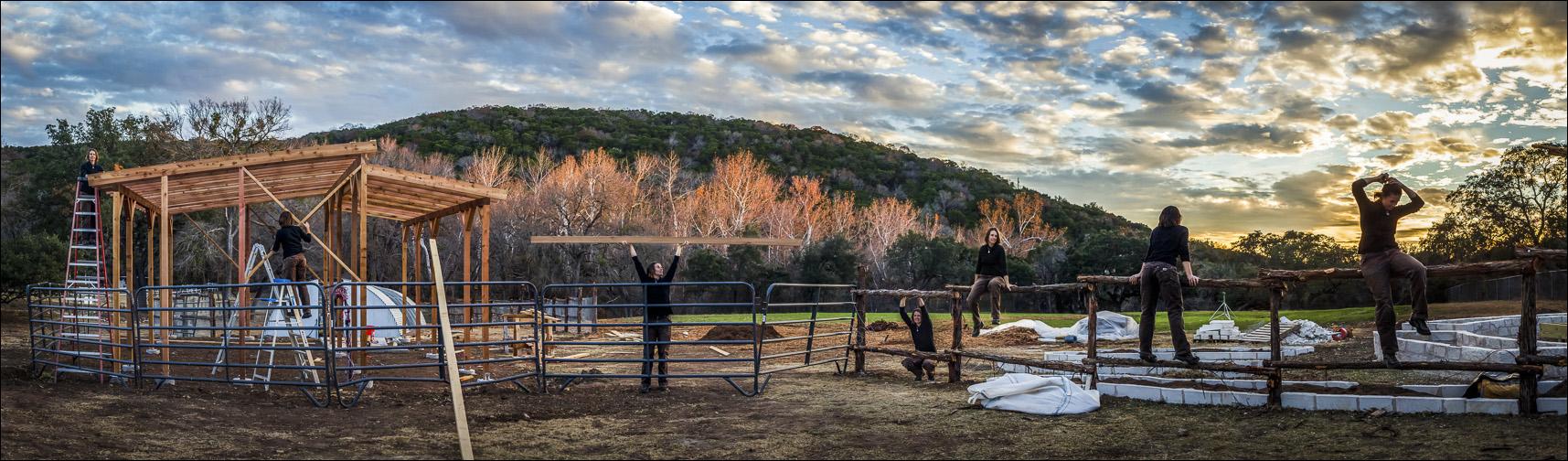 Kimberly Grabowski at the Travaasa Farm