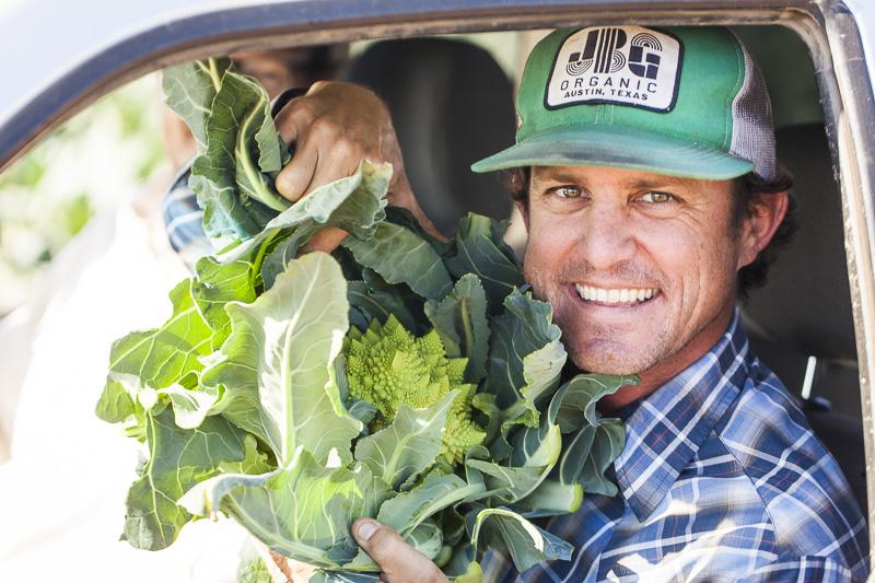 Brenton Johnson holds a beautiful romanesque cauliflower.