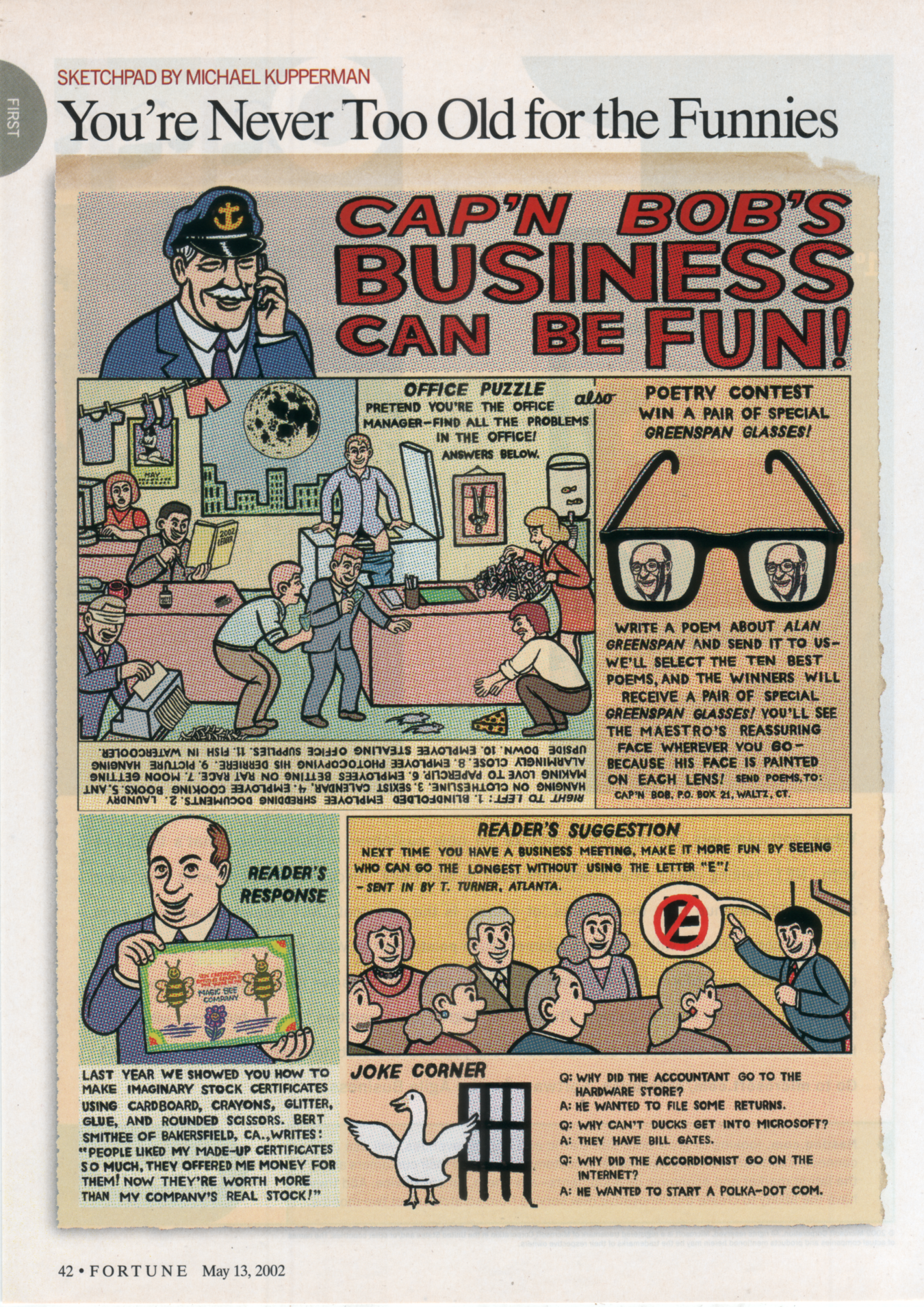 """Cap'n Bob's Business Can Be Fun""  Fortune,  2002"