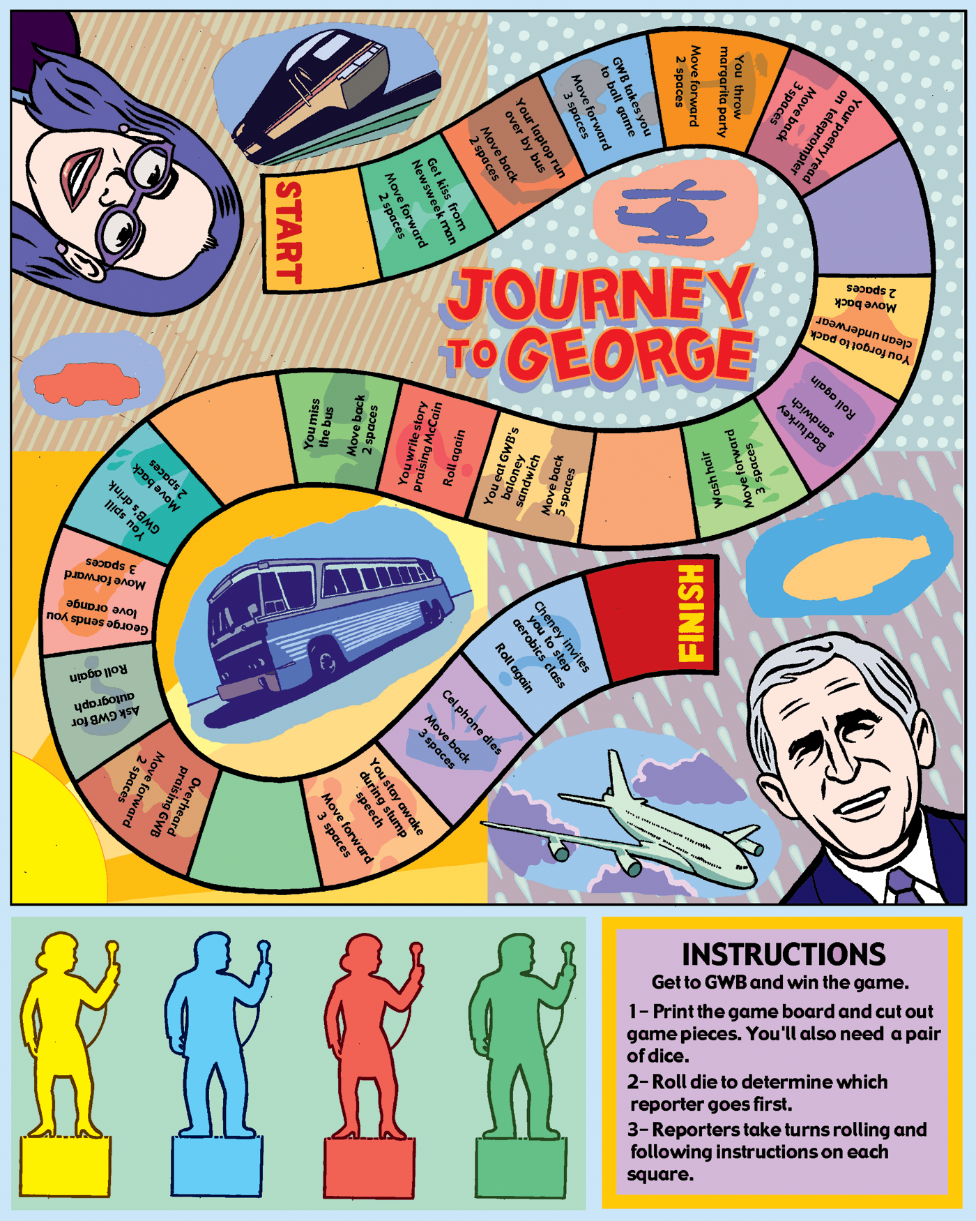 """Journey to George"" board game, HBO, 2000"