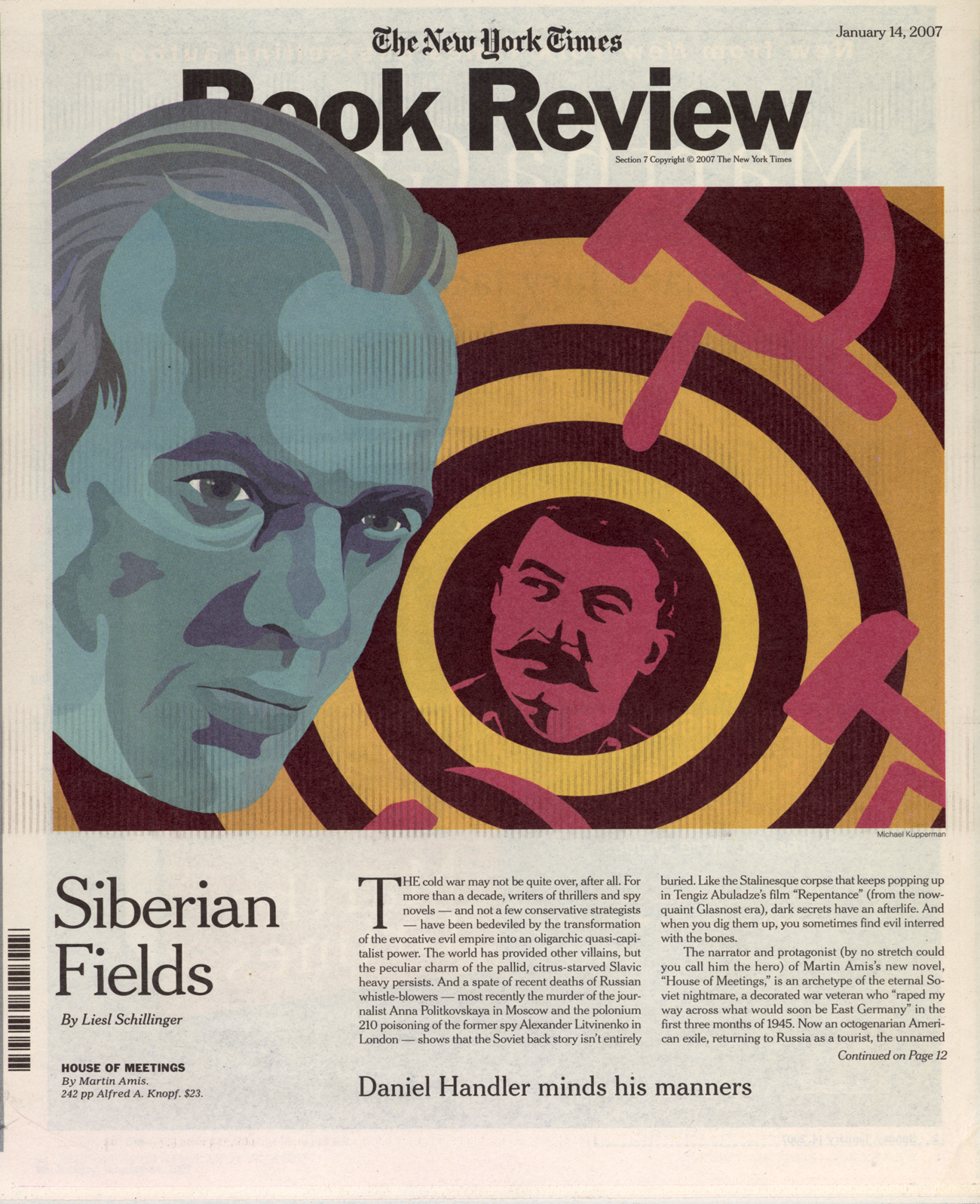 Martin Amis, cover of  New York Times Book Review , 2007