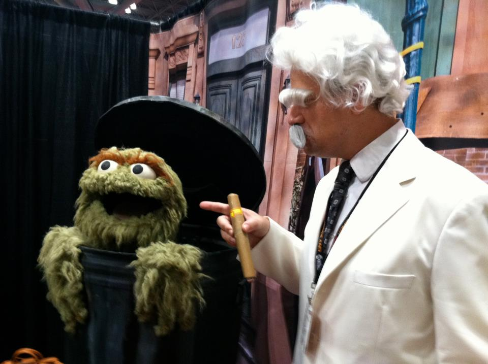 Myself with Oscar the Grouch at the New York Comic Con.