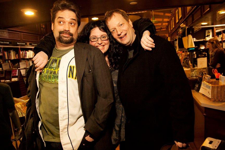 Myself, Marianne Ways and Todd Hanson at Sara Benincasa's  Agorafabulous!  book party at Housing Works.  Photo by Mindy Tucker