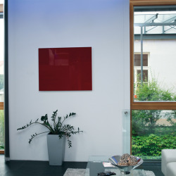 Coloured glass infrared heating panel