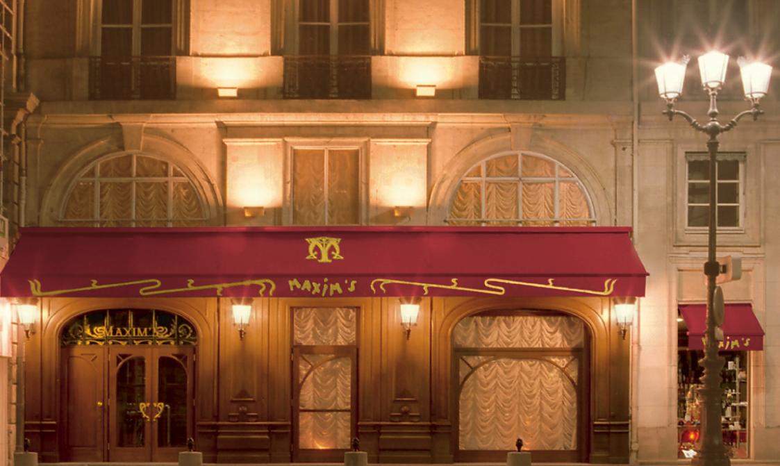 Copyrighted Maxim's de Paris